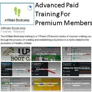 Learn Earn Wealthy Affiliate Paid Training For Premium Members