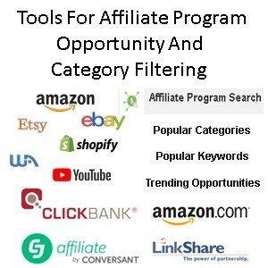 What Affiliate Marketing Tools To Use For Affiliate Program Opportunity Category Filtering