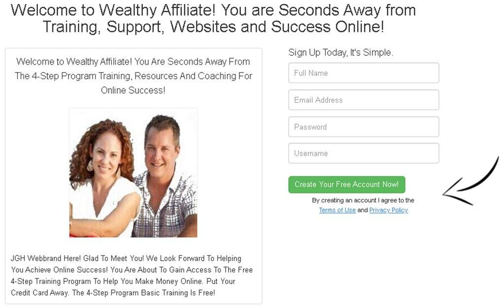 LEWA Learn Earn Wealthy Affiliate JGH Webbrands Sign Up For Free Training Support and Coaching