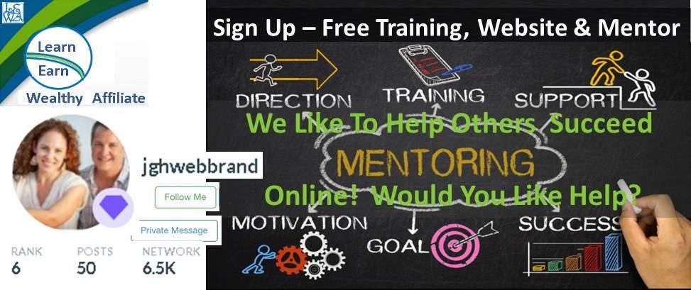 Learn Earn Wealthy Affiliate Earn Online From Home Free Training Website Mentor