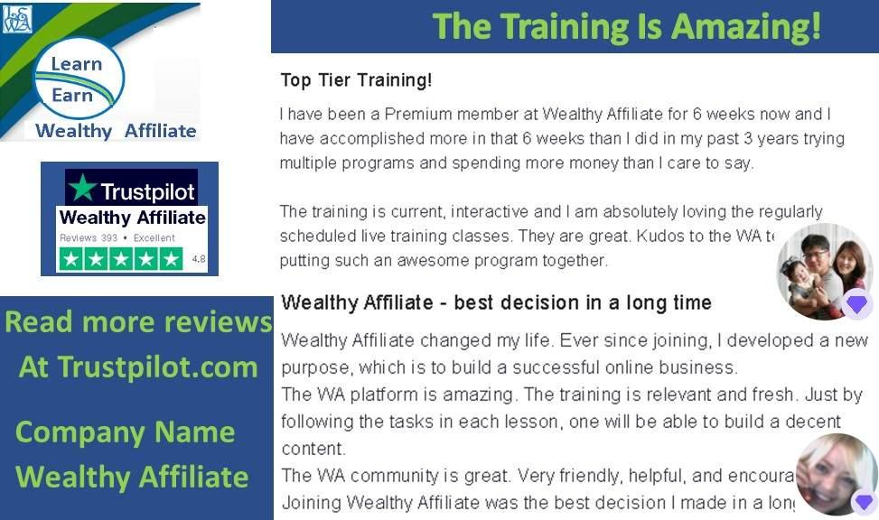 Learn Earn Wealthy Affiliate Tremendous Program Read Reviews On Trust Pilot