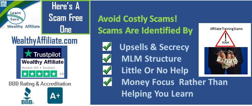 Learn Earn Wealthy Affiliate Avoid A Scam. Check The Ratings
