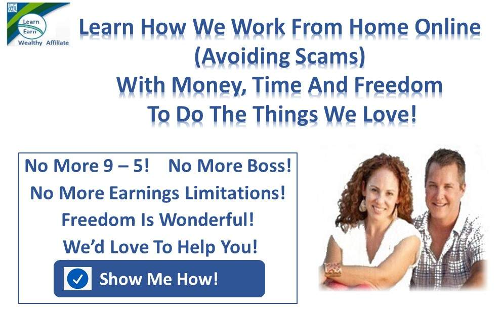 Learn Earn Wealthy Affiliate Learn How We Work From Home.